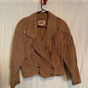 ROCK CREEK vintage fringe jacket  WORN to STONES.